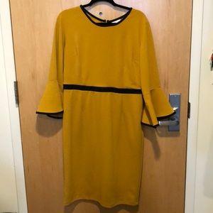 Mustard Bell Sleeve Bodycon